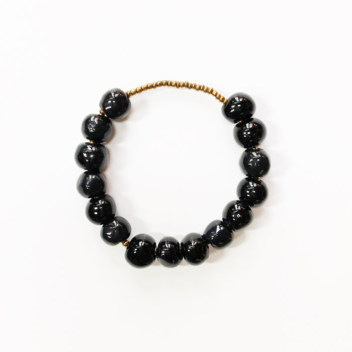 Black Ceramic Slide Bracelet