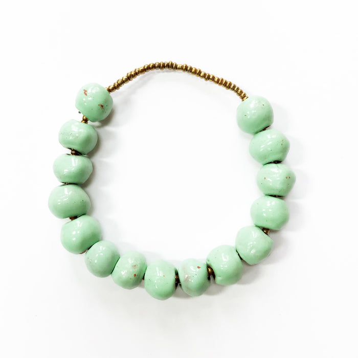 Mint Ceramic Slide Bracelet