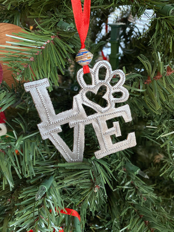 Puppy Love Metal Ornament