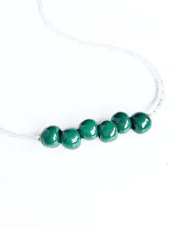 Christmas Tree Green Necklace