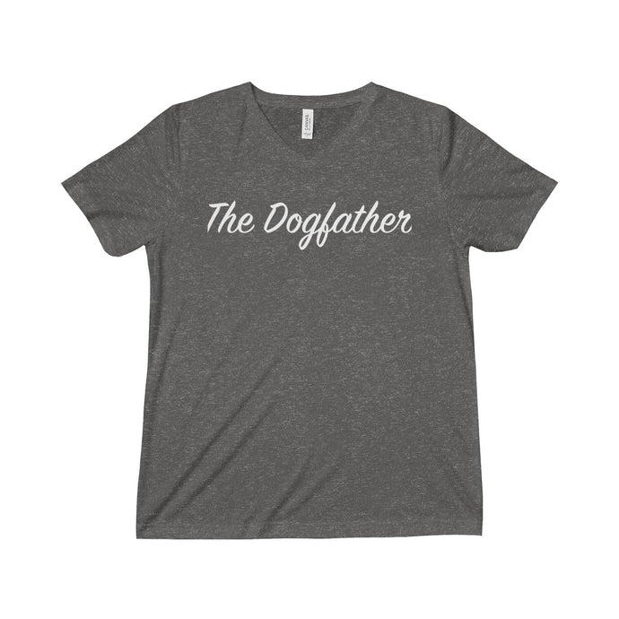 The Dogfather V-Neck Unisex Triblend Short Sleeve