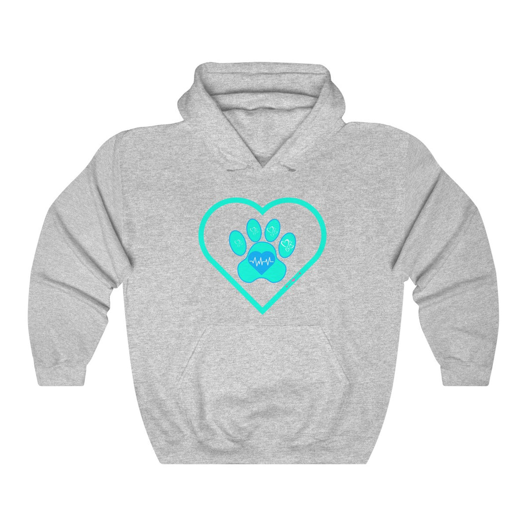 Hooded Dog-Paw-Heart Sweatshirt
