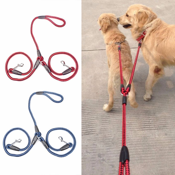 Double Dog Leash for Walking 2 Dogs at Once