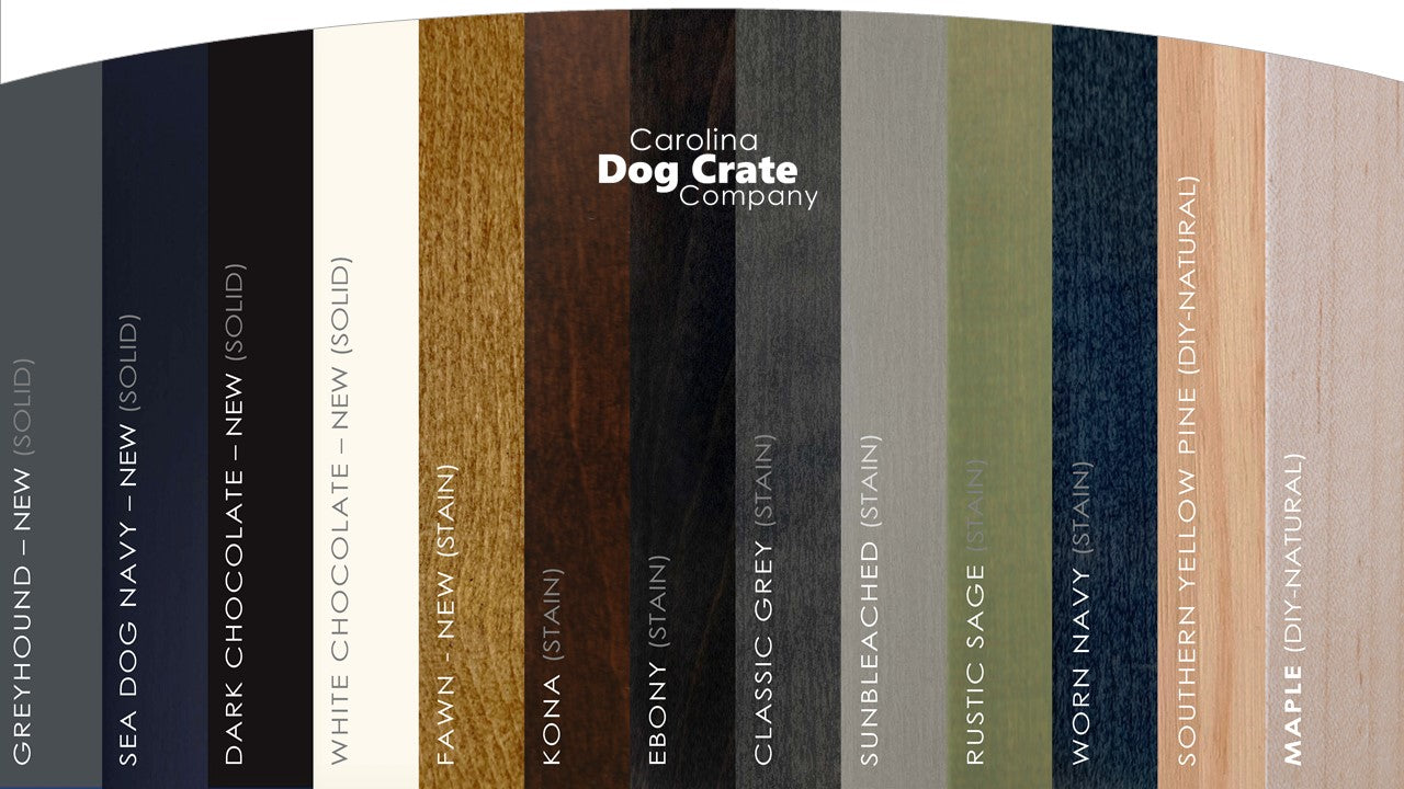 personalize your custom dog kennel with stylish color options to match any decor
