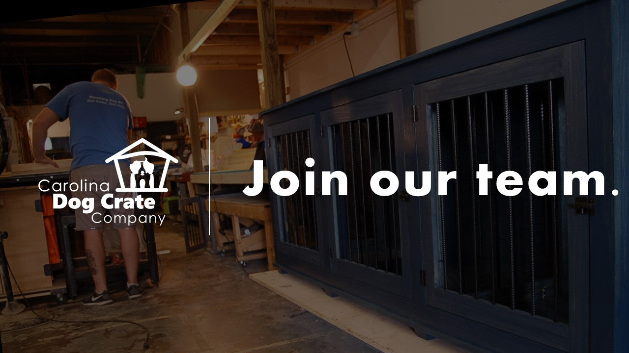 Carolina Dog Crate Co is hiring. Join our team!