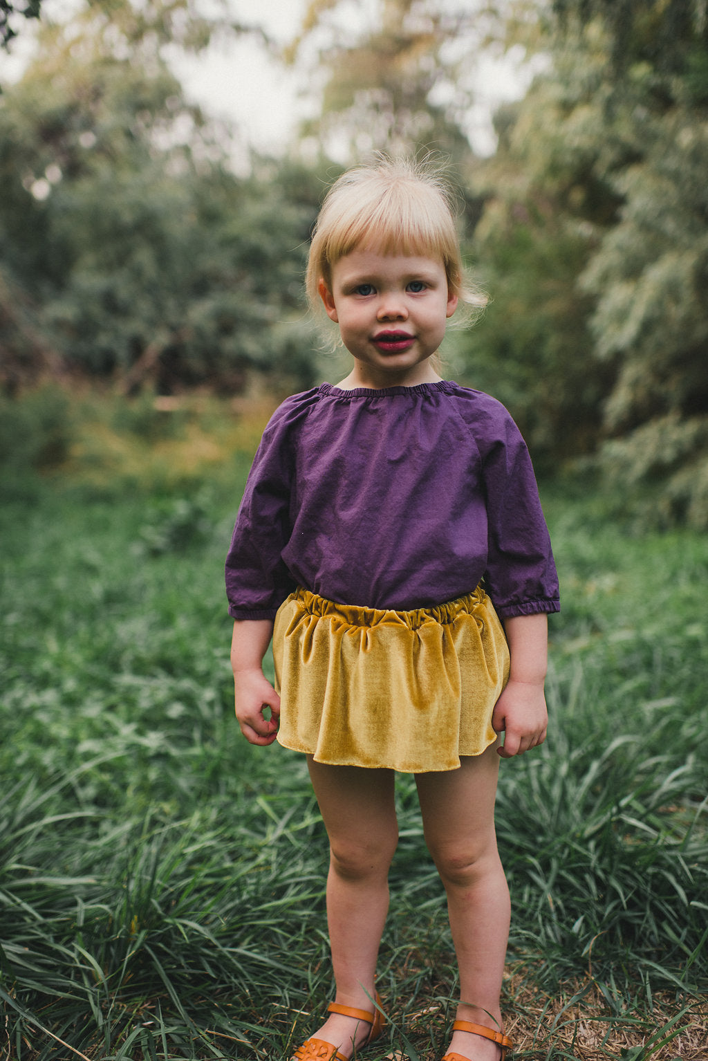 Golden Maple Velvet Bloomer Skirts