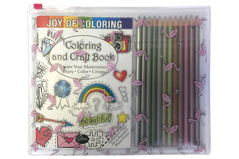 Joy of Coloring's Coloring and Craft Book Set