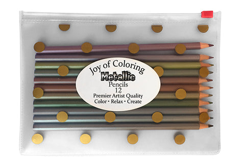 Joy of Coloring's Metallic Pencils and Pouch Set