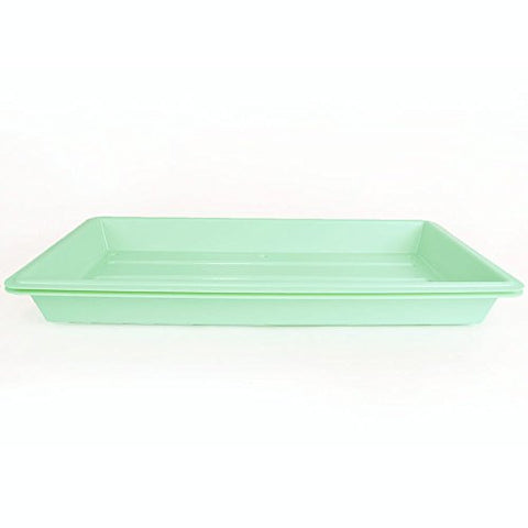 Quantity 1 - Perma-Nest Heavy Duty Plant Greenhouse Growing Tray - (Green) No Drain Holes - Makes a Great Drip Tray - Perfect for Seed Starts, Microgreens, Wheatgrass, More
