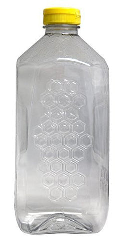 Mann Lake Honeycomb Plastic Jar with Lid, 5-Ounce by Mann Lake