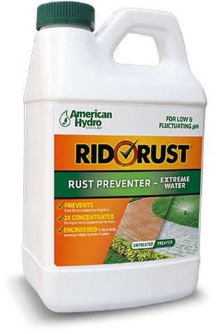 American Hydro Systems RR2 Rid O' Rust Extreme Water 2X Concentration Stain Preventer, Pack of (4) 1/2-Gallon Bottles