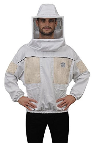 Humble Bee 532-M Ventilated Beekeeping Smock with Square Veil (Medium)