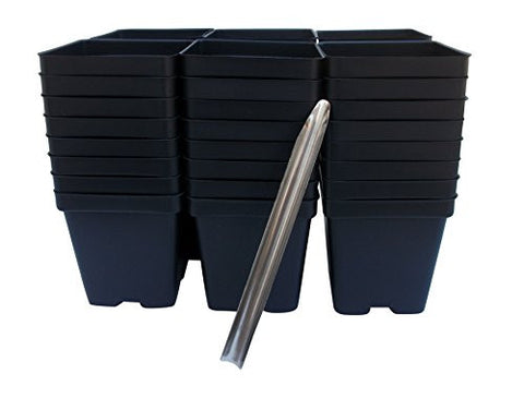 48 Transplant/Seedling Plastic Pots (3.25 Inch) and Transplant Tool (Bundle of 2) Total 49 Pieces