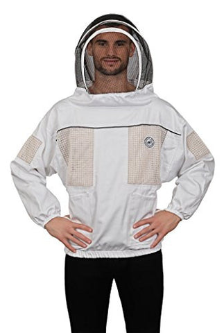 Humble Bee 531-XXL Ventilated Beekeeping Smock with Fencing Veil (XX Large)
