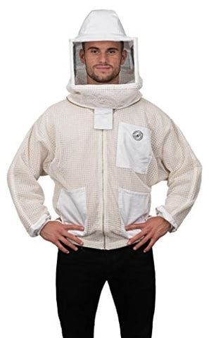 Humble Bee 322-S Aerated Beekeeping Jacket with Square Veil (Small)