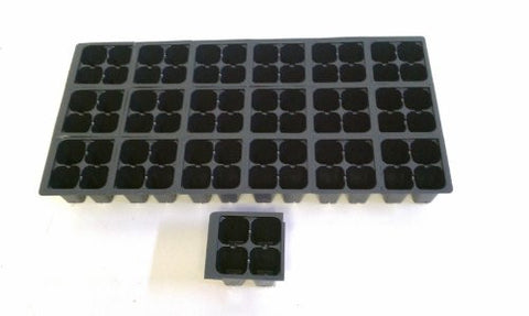 "25 Plastic Seed Starting Trays - Each Tray Has 72 Cells ~ Cells Are 1 1/2"" Square X 2 1/4"" Deep ~ Can be separated into 18 individual packs of 4 cavity's ~ Great Propagation Trays"
