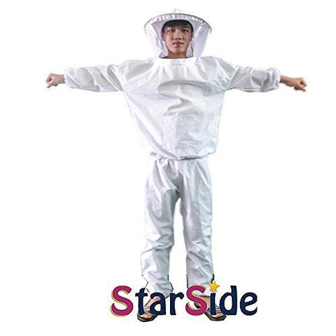 StarSide XL Professional Beekeeping Jacket Pants Veil Bee Protecting Suit Smock Dress Equipment For Adult