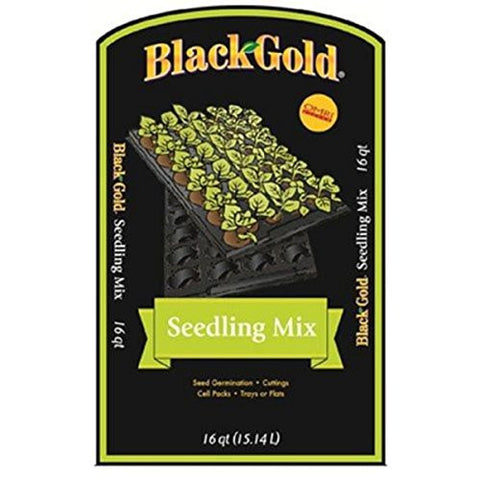 Black Gold 1311002 Ideal newly germinated seedlings germinating seeds in flats, pots, and plug trays16 quart bag Seedling Mix