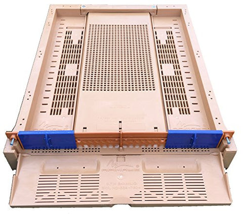 Apimaye Premium Screened Bottom Board with Built In Pollen Trap and Pollen Drawer, Entrance Reducers and Ventilation System For Moisture Control