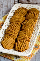 Flourless, High Protein - Sugar-Free Peanut Butter Cookies