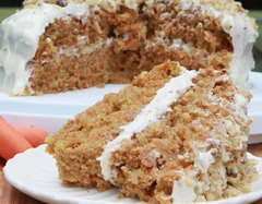 Gluten Free - High Protein Carrot Cake with Cream Cheese Frosting