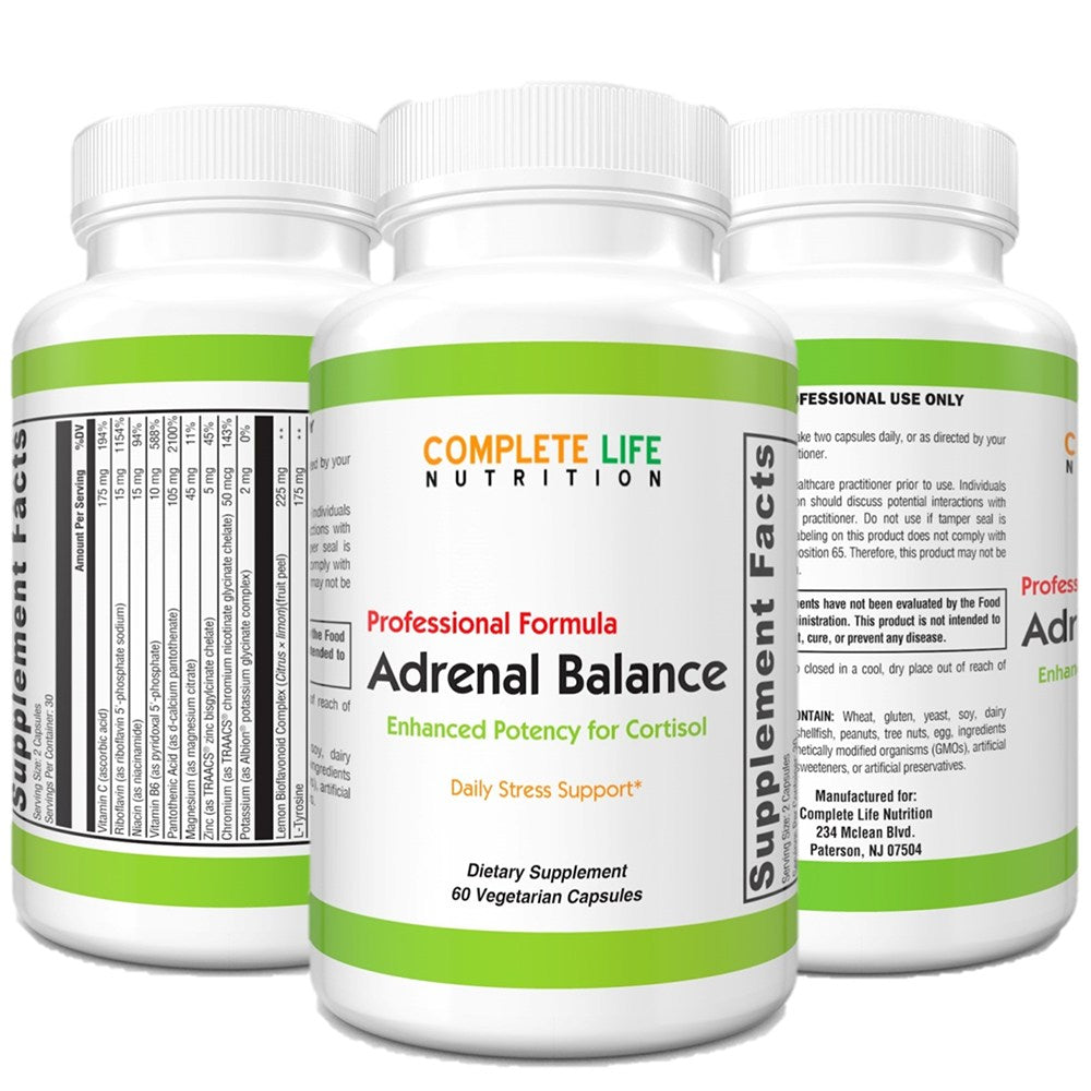 Adrenal Balance - Top-Rated Stress Supplement - Complete Life Nutrition - High Quality Doctor Formulated Vitamins and Supplements