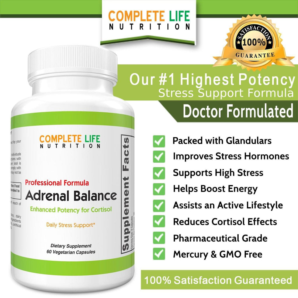 Supplements - Adrenal Balance - Top-Rated Stress Supplement