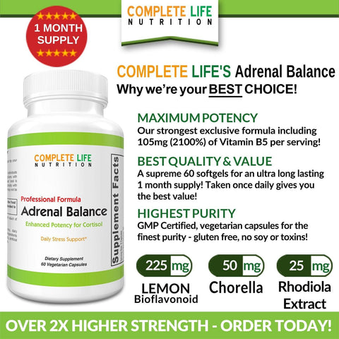 Image of Supplements - Adrenal Balance - Top-Rated Stress Supplement