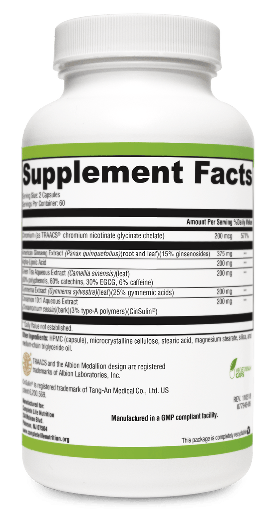 Supplements - Blood Sugar Balancer Metabolism And Sugar Support Supplement