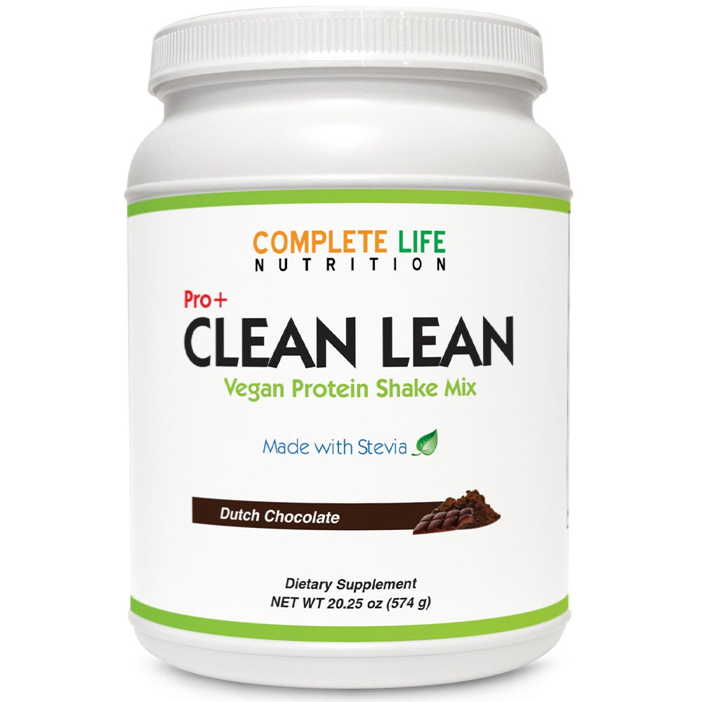Clean Lean Shake- Dutch Chocolate - Meal Replacement - Pea Protein - Complete Life Nutrition - High Quality Doctor Formulated Vitamins and Supplements
