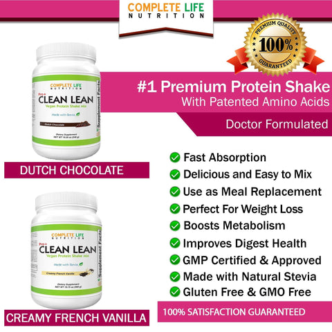 Supplements - Clean Lean Shake- Dutch Chocolate - Meal Replacement - Pea Protein