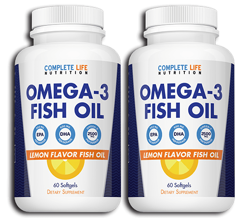 Omega 3 Fish Oil (2 Bundle) - Complete Life Nutrition - High Quality Doctor Formulated Vitamins and Supplements