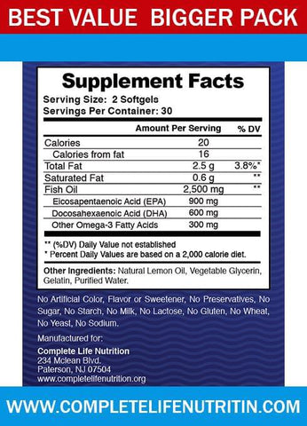 Image of Supplements - Omega 3 Fish Oil - Top Rated Fish Oil