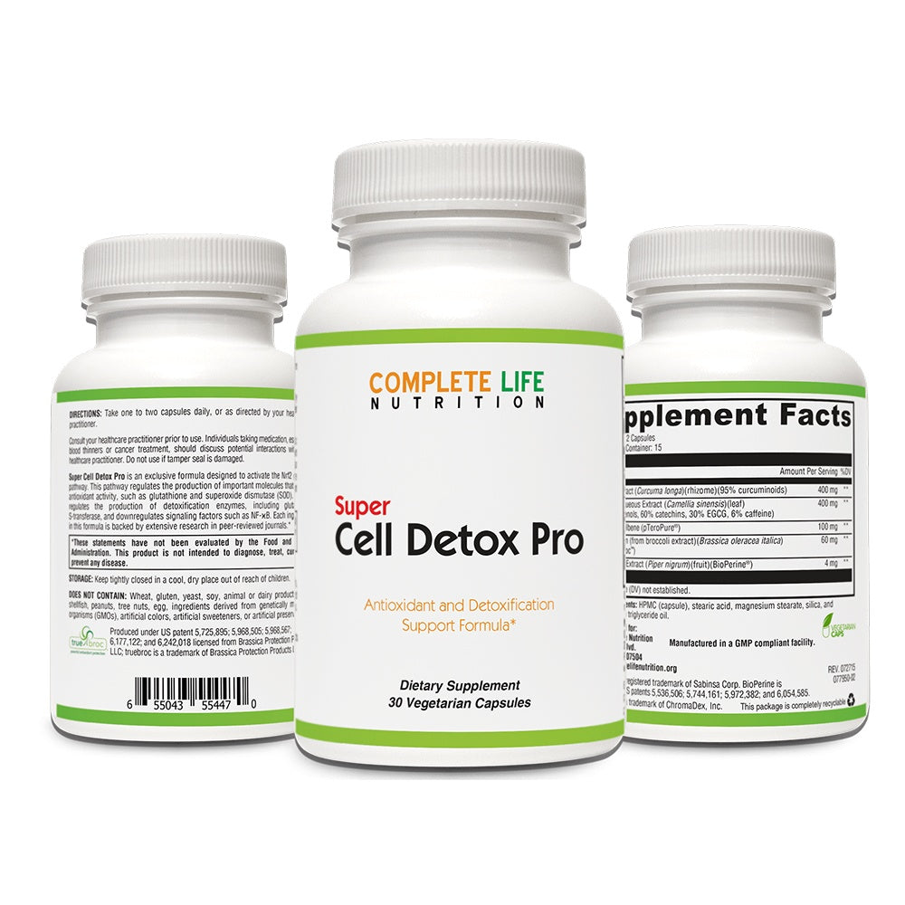 Super Cell Detox Pro - Cellular Detoxification Supplement - Complete Life Nutrition - High Quality Doctor Formulated Vitamins and Supplements