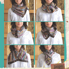 Unique lightweight Infinity scarf handmade with Mayan upcycled fabric