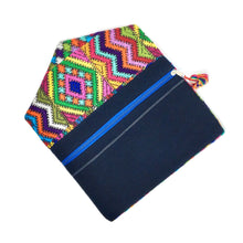 One of a kind handmade clutch with upcycled Mayan fabric, artisan made in Guatemala, ethically made, fair trade. Colorful fabric clutch, handcrafted, handwoven
