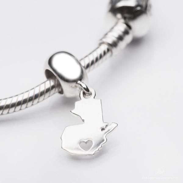 Guatemalan lover pendant in sterling silver, perfect as a Pandora charm