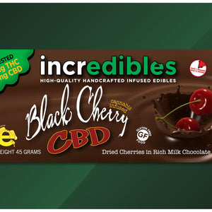 Incredibles Cannabis Chocolates 100MG Black Cherry Bar (1:1 CBD/THC)