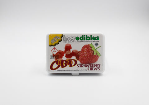 Incredibles - Strawberry CBD Chews - 100mg