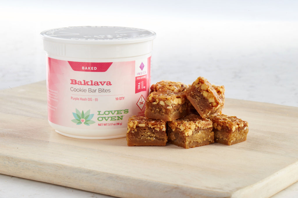 Love's Oven - Baklava Cookie Bar Bites - 100mg