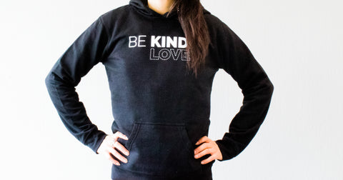 "Women's Pull Over ""Be Kind Love"" Hoodie"