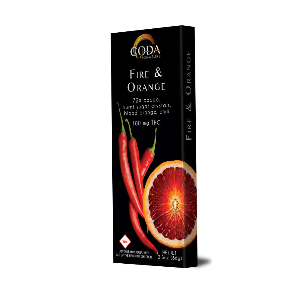 Coda Chocolate Bars Fire and Orange