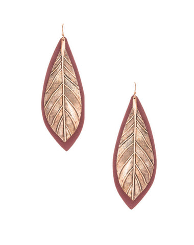 Painted Leather Earrings
