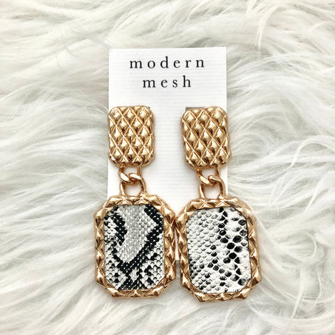 Snakeskin Quilt Earrings