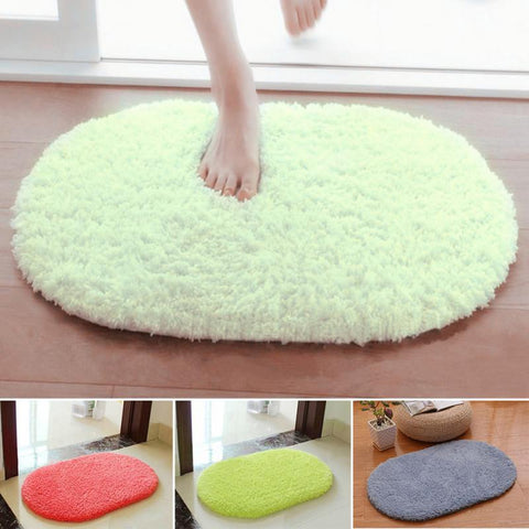 Genie Plus® Plush Slip Resistant Oval Floor Mat - Get The Gear Now!