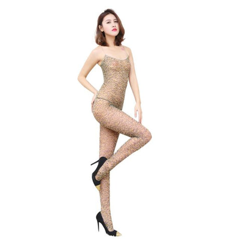 Leopard Print Body Stocking Costume - Get The Gear Now!