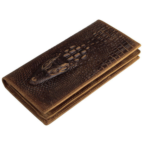 Crocodile Or Skull Retro Leather Wallet - Get The Gear Now!