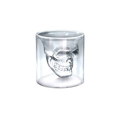 Nickel + Shipping Crystal Pirate Skull Shot Glass - Get The Gear Now!