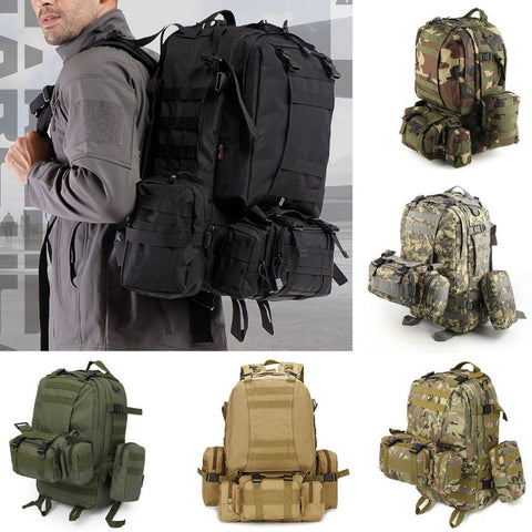 50 L Waterproof Molle Military Tactical Backpack - Get The Gear Now!