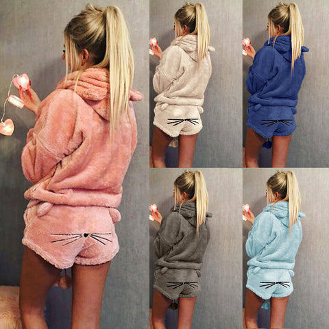 Days Off® Hoodie Shorts Two Piece Pajamas